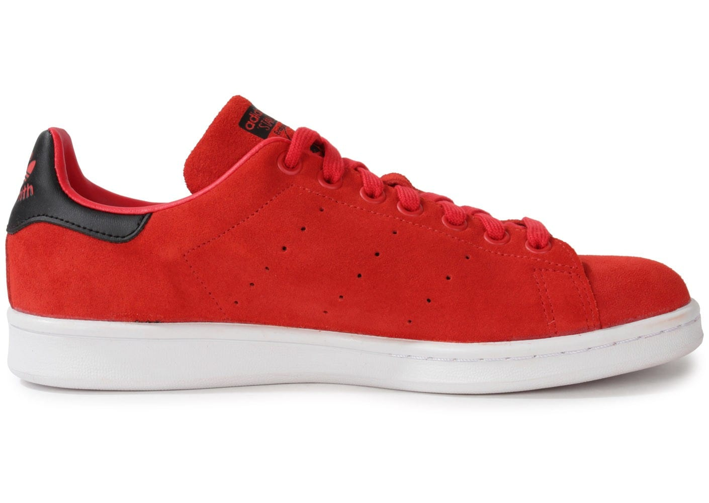 adidas stan smith suede rouge chaussures homme chausport. Black Bedroom Furniture Sets. Home Design Ideas