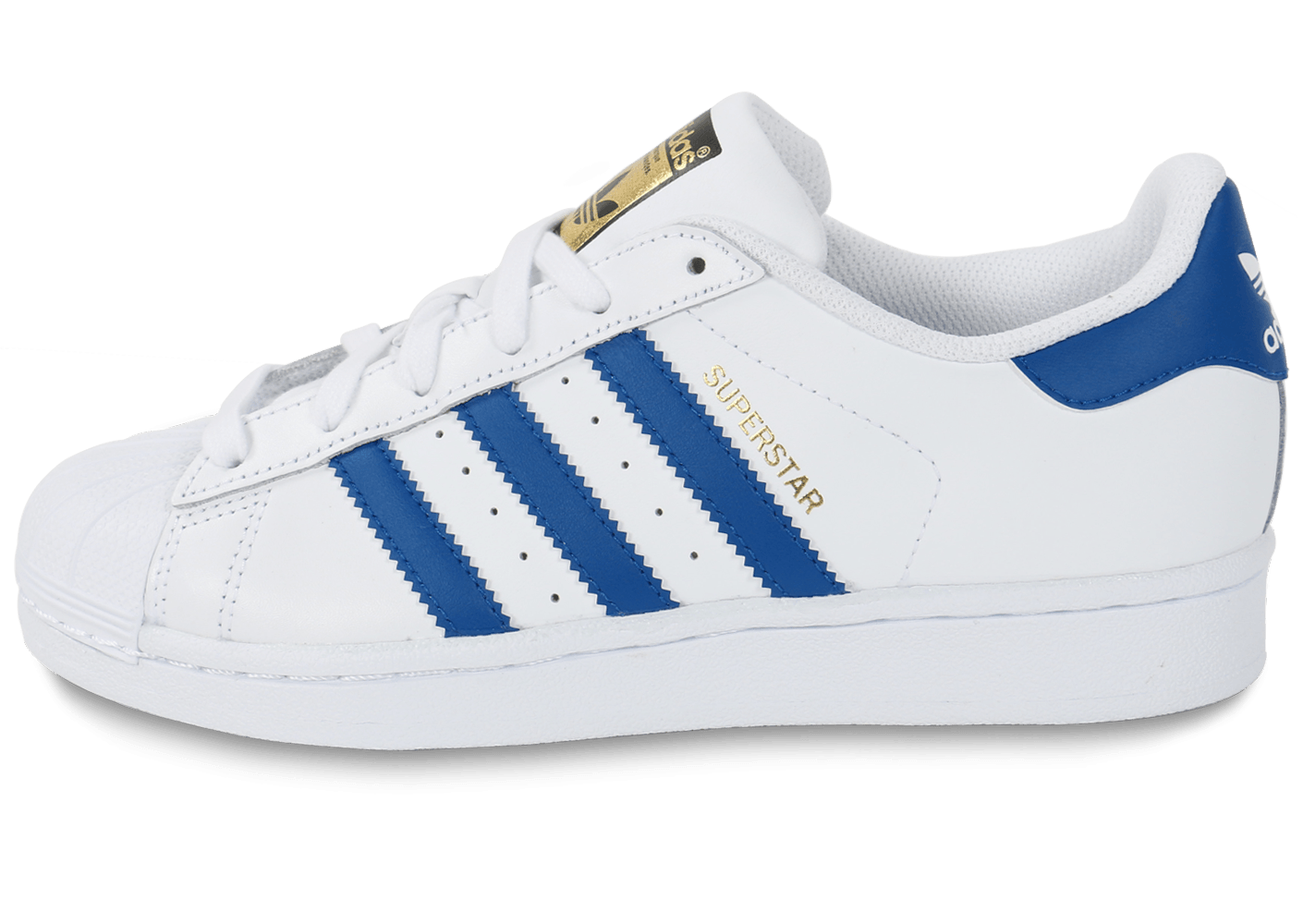 adidas superstar foundation junior blanche et bleue chaussures adidas chausport. Black Bedroom Furniture Sets. Home Design Ideas