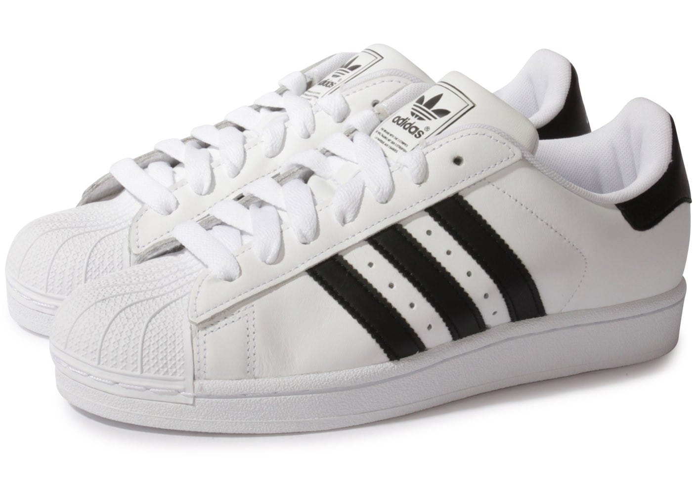 adidas superstar 2 blanche et noire chaussures homme chausport. Black Bedroom Furniture Sets. Home Design Ideas