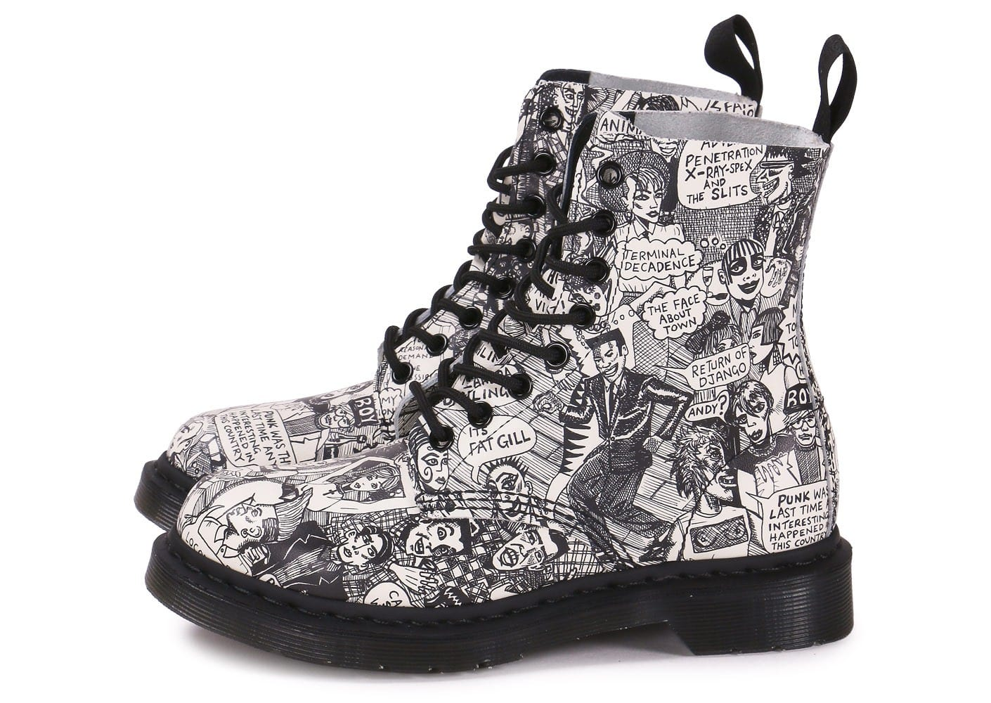 Populaire Dr Martens Pascal Mark Wigan print - Chaussures Chaussures - Chausport CI15