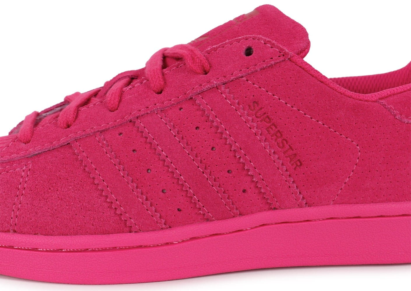 huge selection of 3daab 12725 chaussures adidas superstar monochrome rose zoom detail