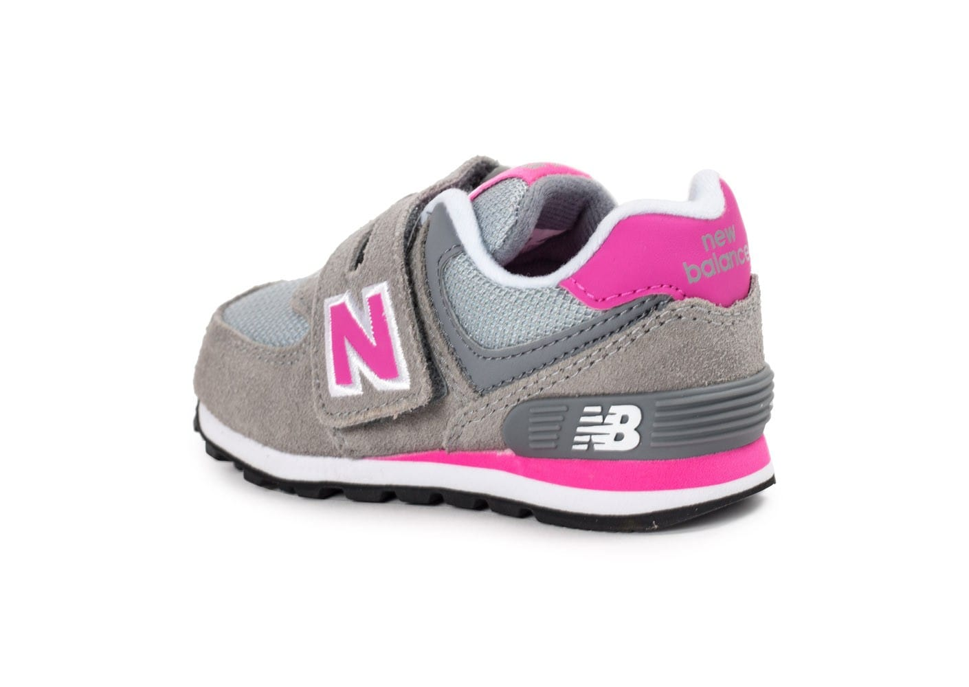 new balance kv574 b b grise et rose chaussures toutes les baskets sold es chausport. Black Bedroom Furniture Sets. Home Design Ideas