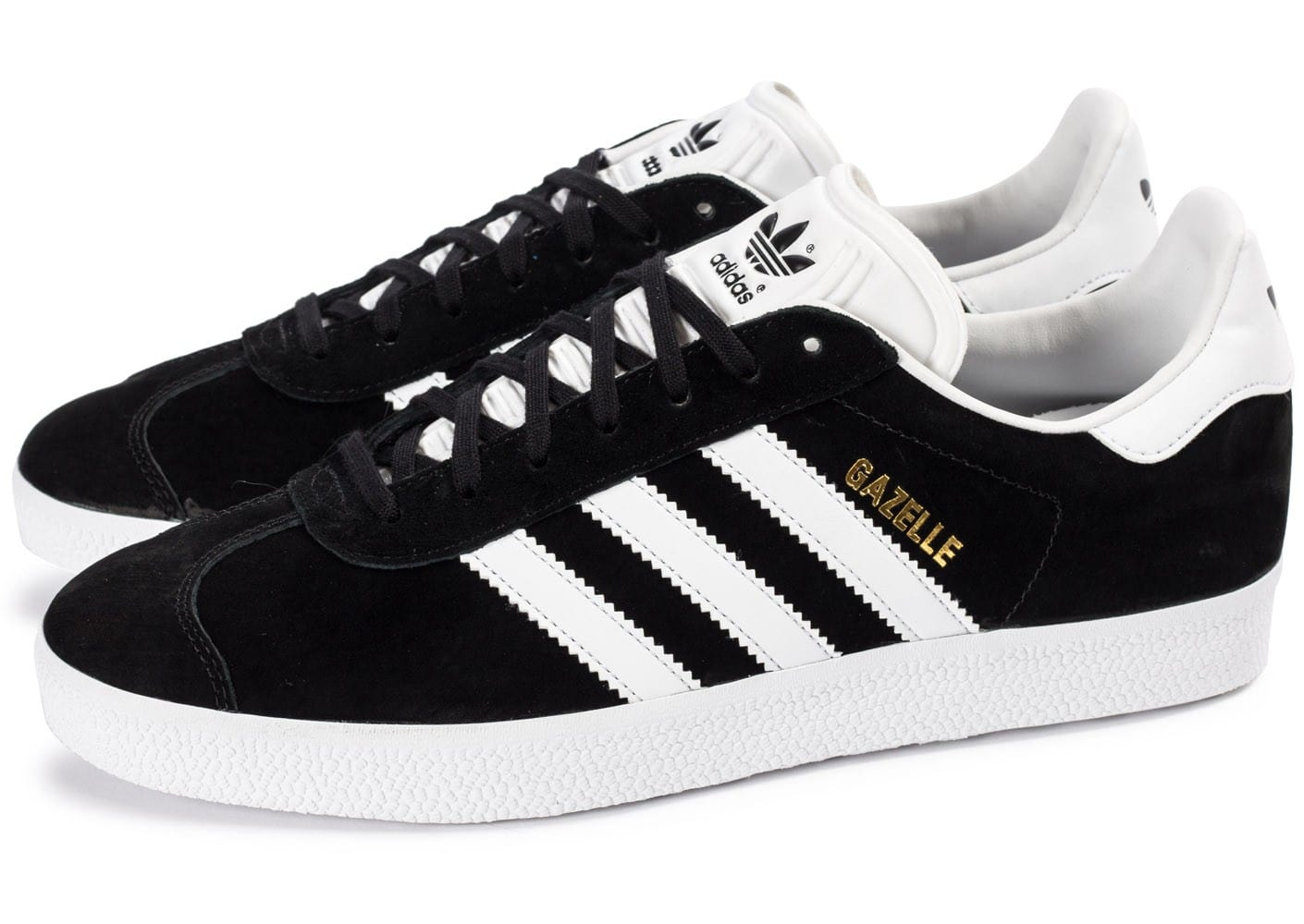 adidas gazelle noire et blanche chaussures homme chausport. Black Bedroom Furniture Sets. Home Design Ideas