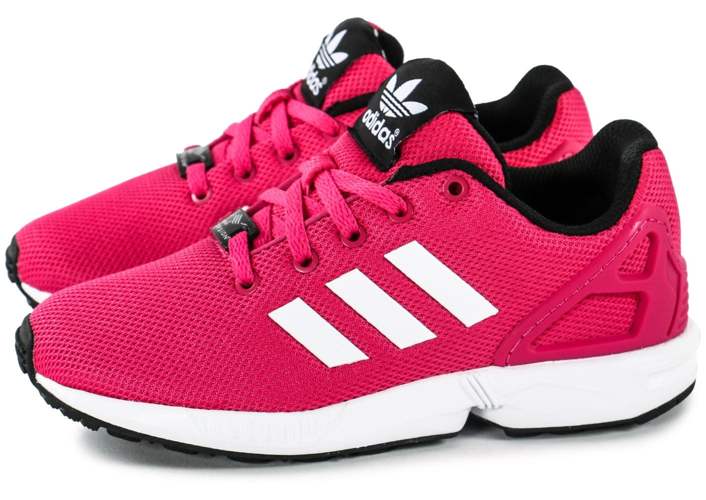 adidas zx flux enfant rose chaussures adidas chausport. Black Bedroom Furniture Sets. Home Design Ideas