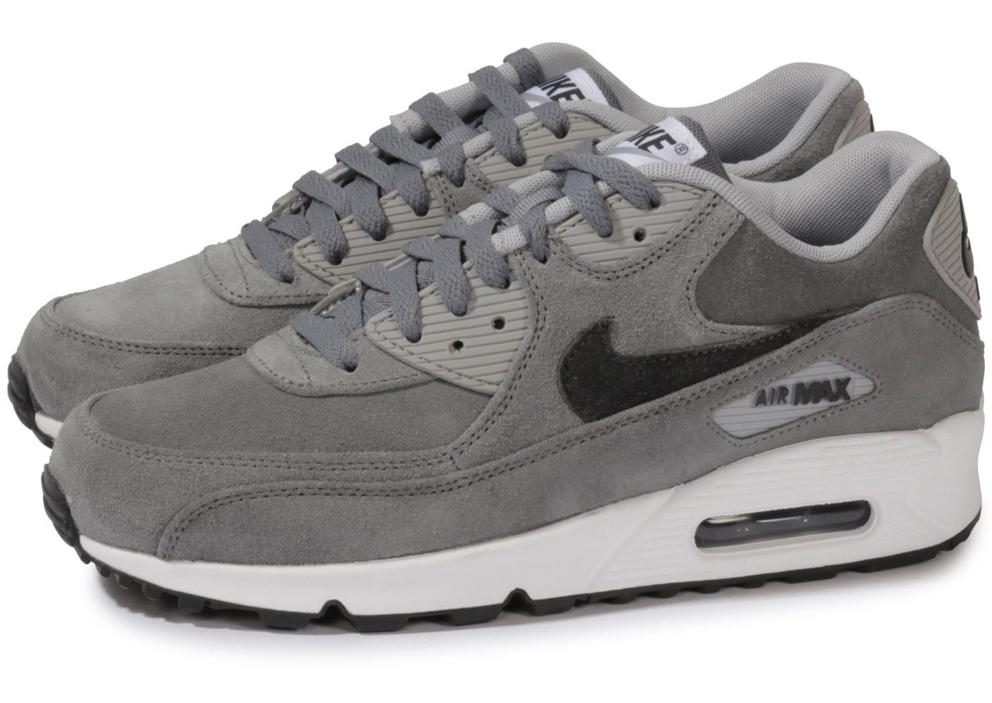 nike air max 90 leather premium grise chaussures homme chausport. Black Bedroom Furniture Sets. Home Design Ideas