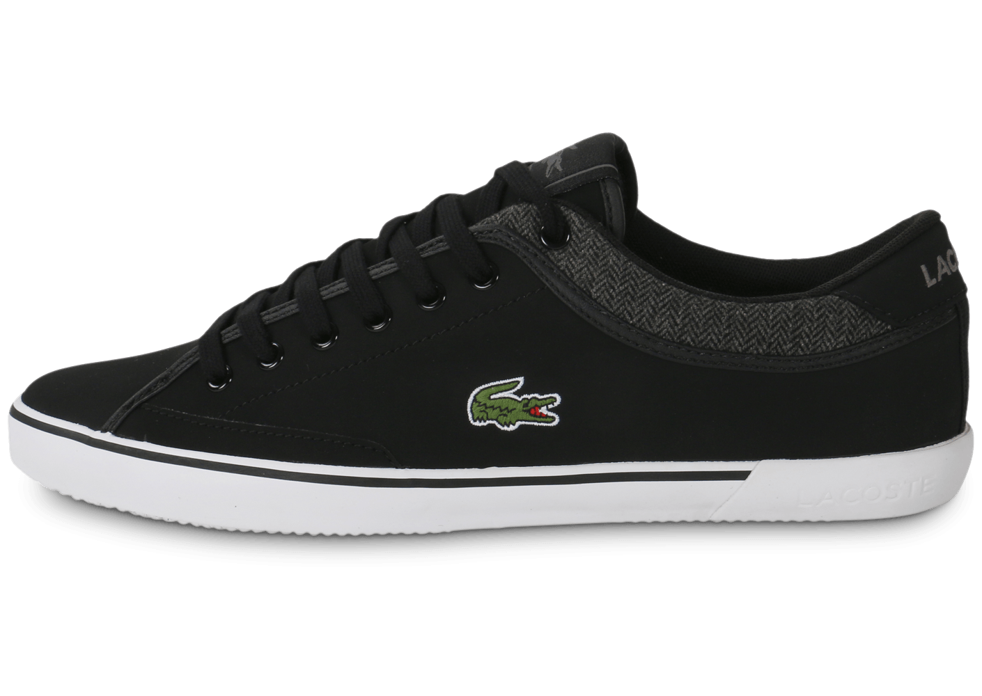 lacoste angha leather noire chaussures homme chausport. Black Bedroom Furniture Sets. Home Design Ideas