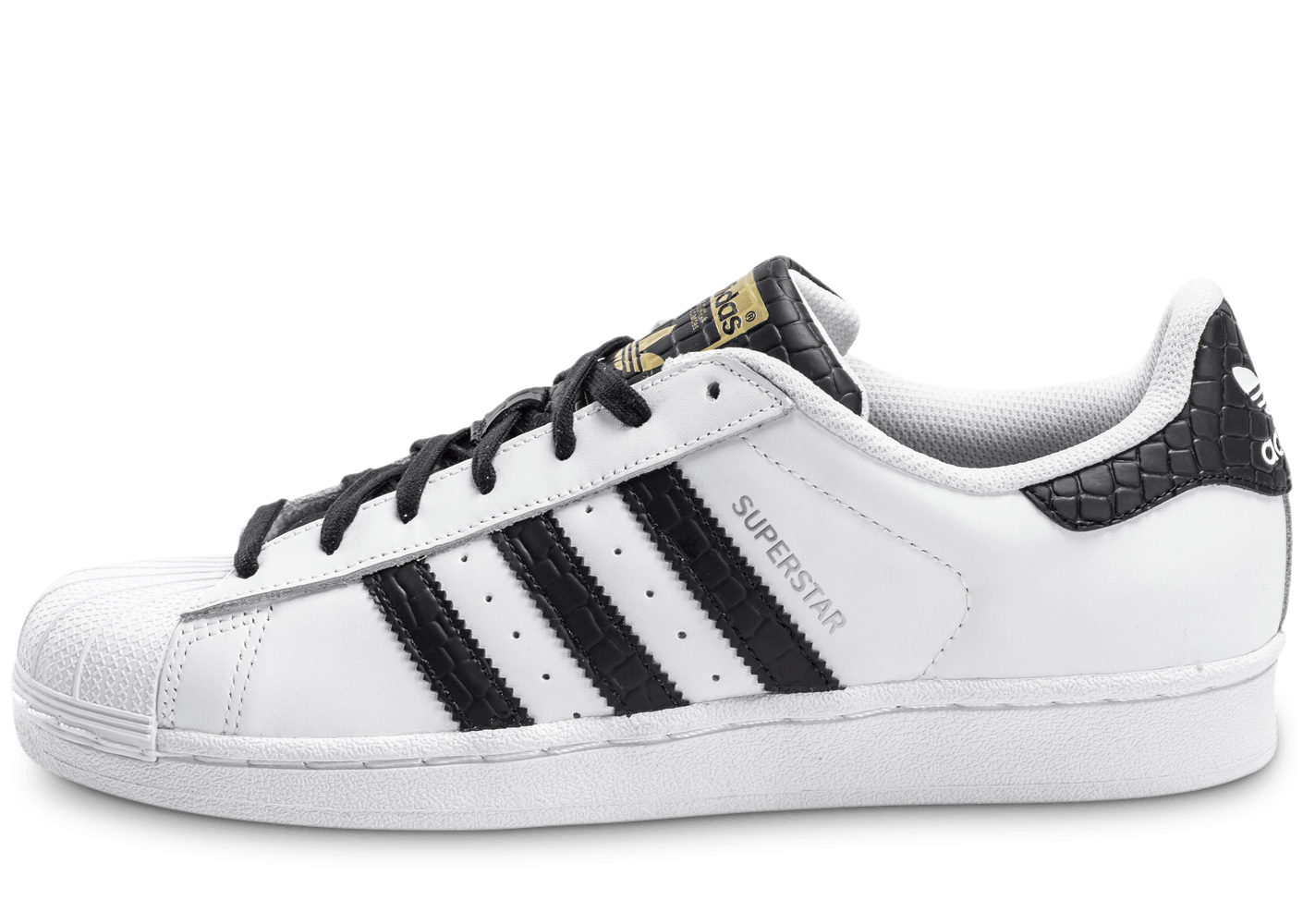 adidas superstar cuir blanche et noire chaussures homme chausport. Black Bedroom Furniture Sets. Home Design Ideas