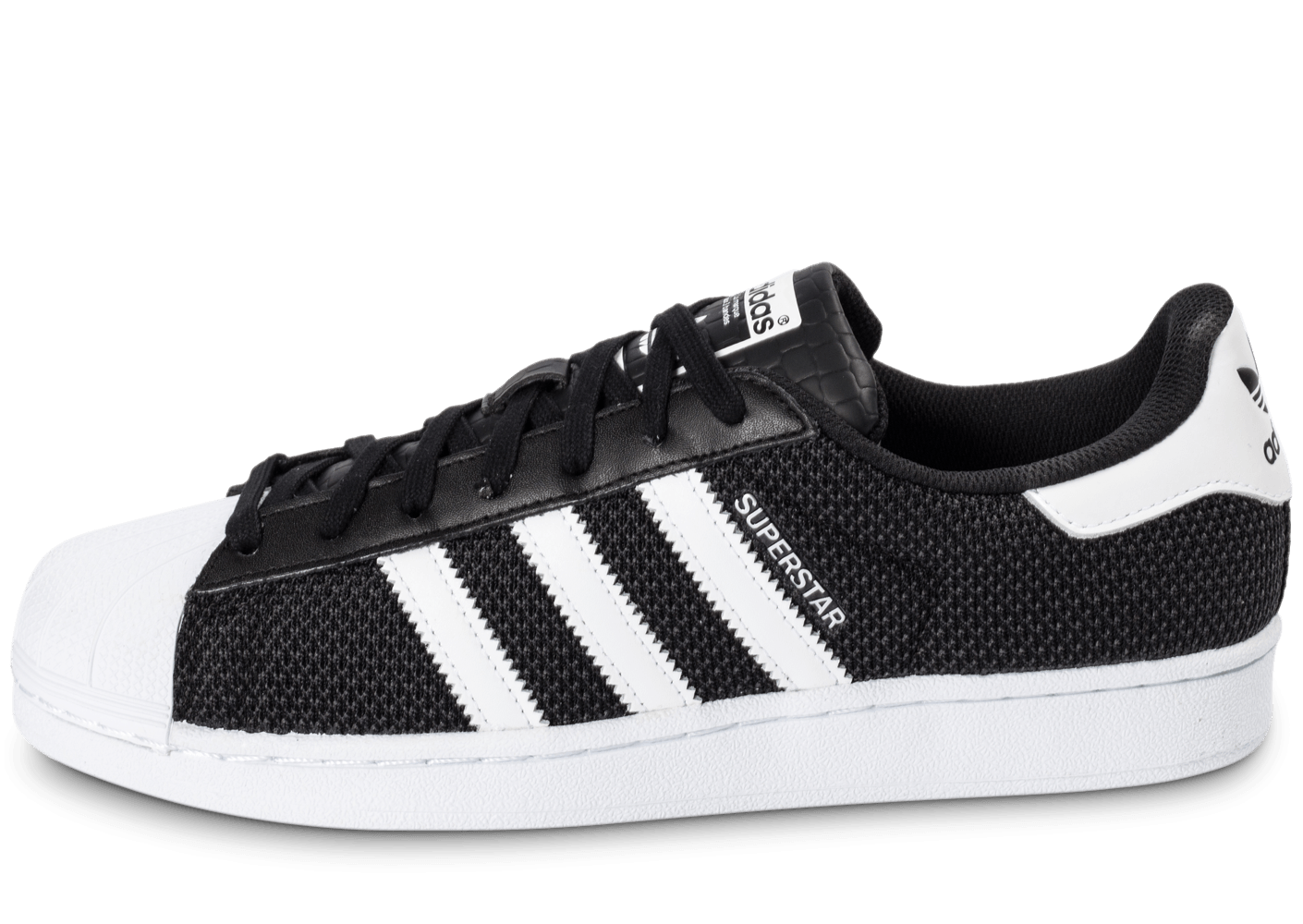 adidas superstar textile noire chaussures homme chausport. Black Bedroom Furniture Sets. Home Design Ideas