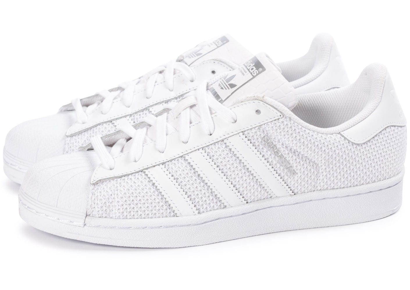 the latest f75dc 7bb71 Cliquez pour zoomer Chaussures adidas Superstar Nylon blanche vue  extérieure adidas superstar blanche ...