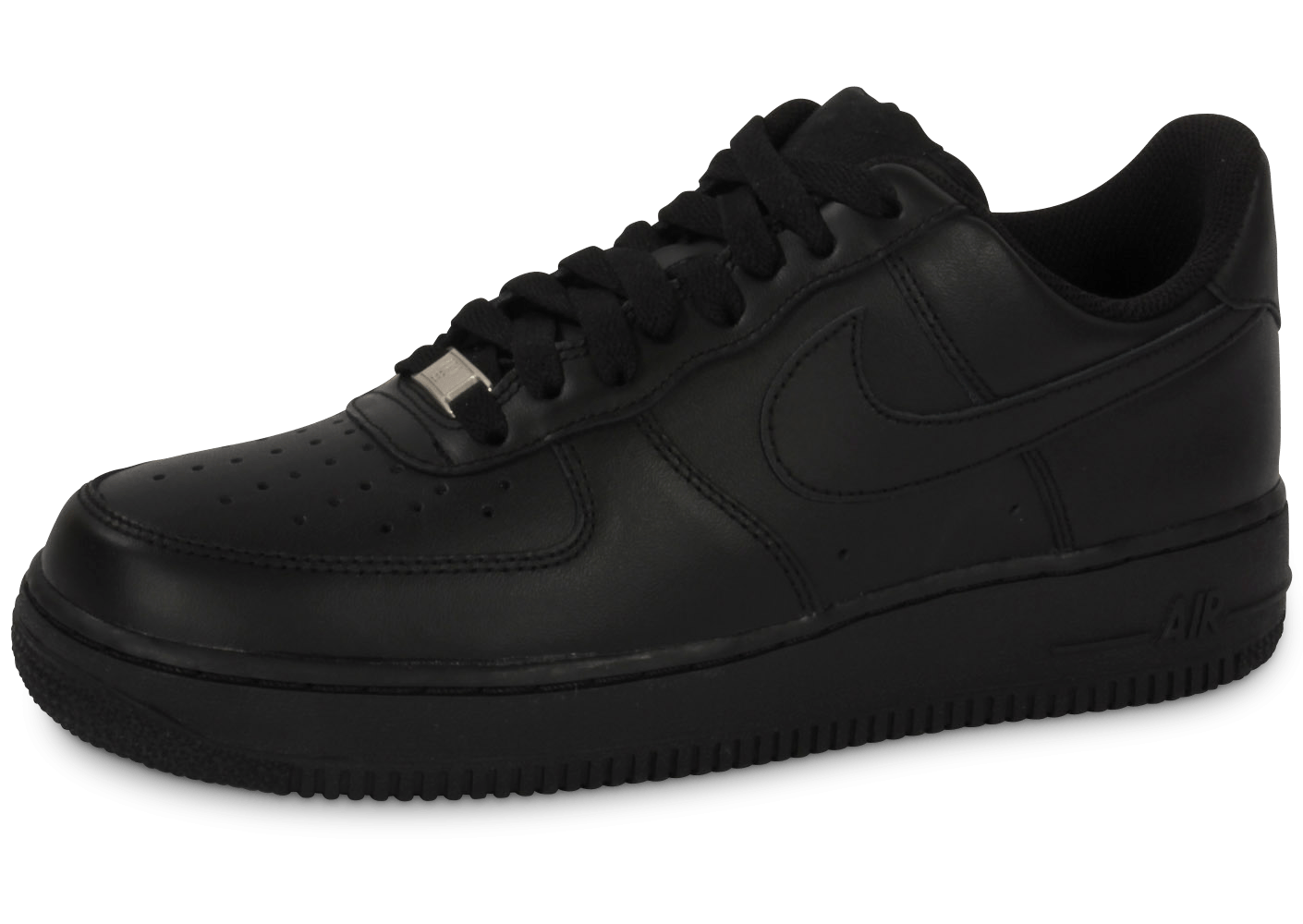 nike air force 1 noire chaussures homme chausport. Black Bedroom Furniture Sets. Home Design Ideas