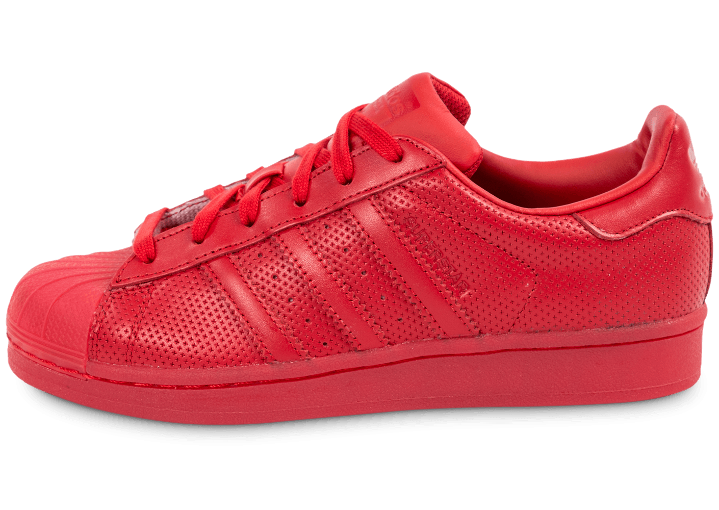 adidas superstar toute rouge femme
