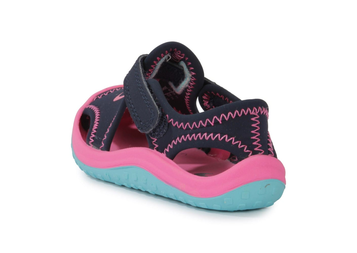 e7610b0a14a ... chaussures nike sunray protect bebe bleu rose vue arriere