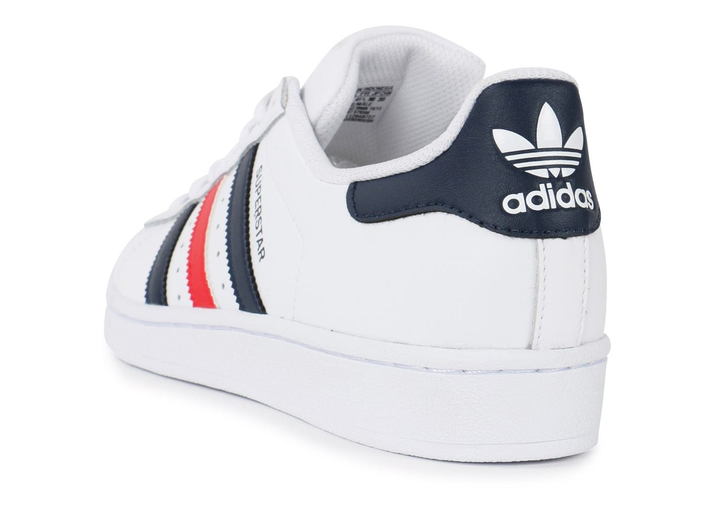 adidas superstar foundation bleu blanc rouge chaussures homme chausport. Black Bedroom Furniture Sets. Home Design Ideas