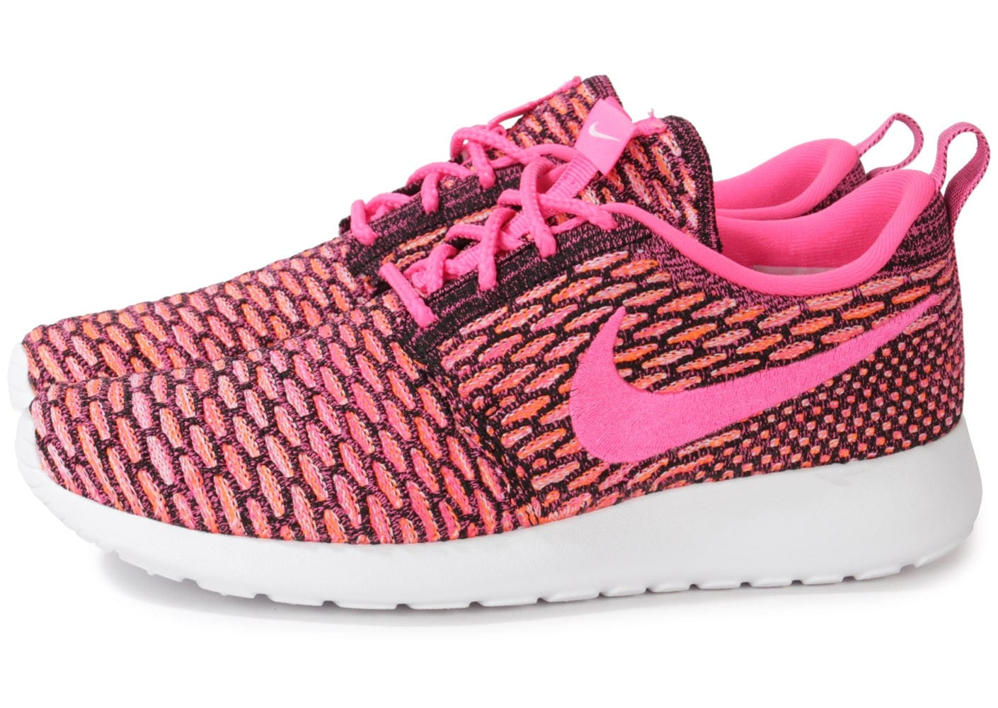 mkxya Cliquez pour zoomer Chaussures Nike ROSHE RUN FLYKNIT ROSE vue extérieure