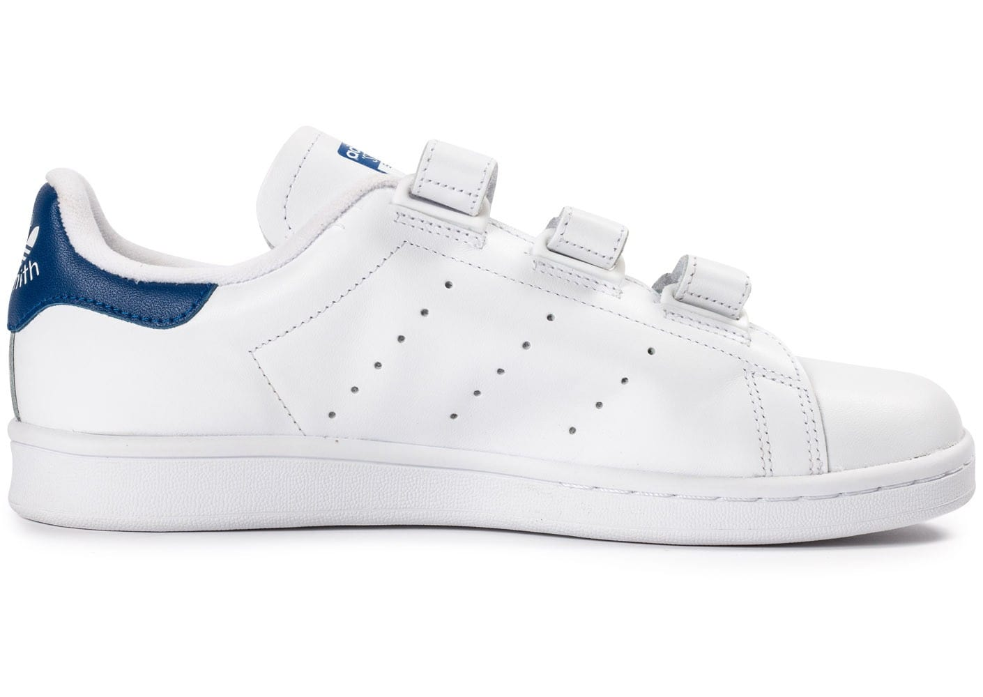 adidas stan smith cf velcro blanc bleu chaussures homme chausport. Black Bedroom Furniture Sets. Home Design Ideas