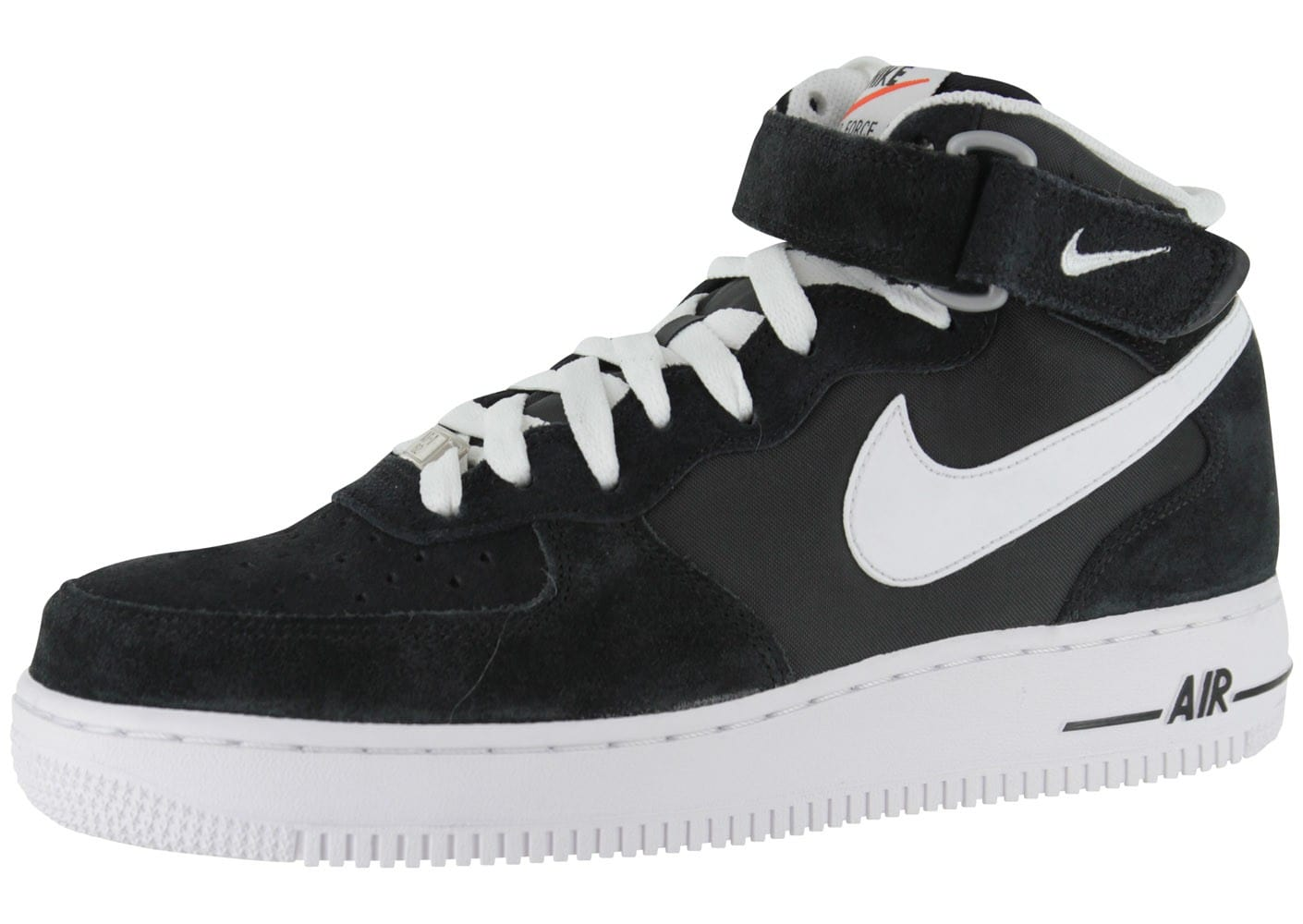 nike air force 1 mid blazer noire chaussures homme chausport. Black Bedroom Furniture Sets. Home Design Ideas