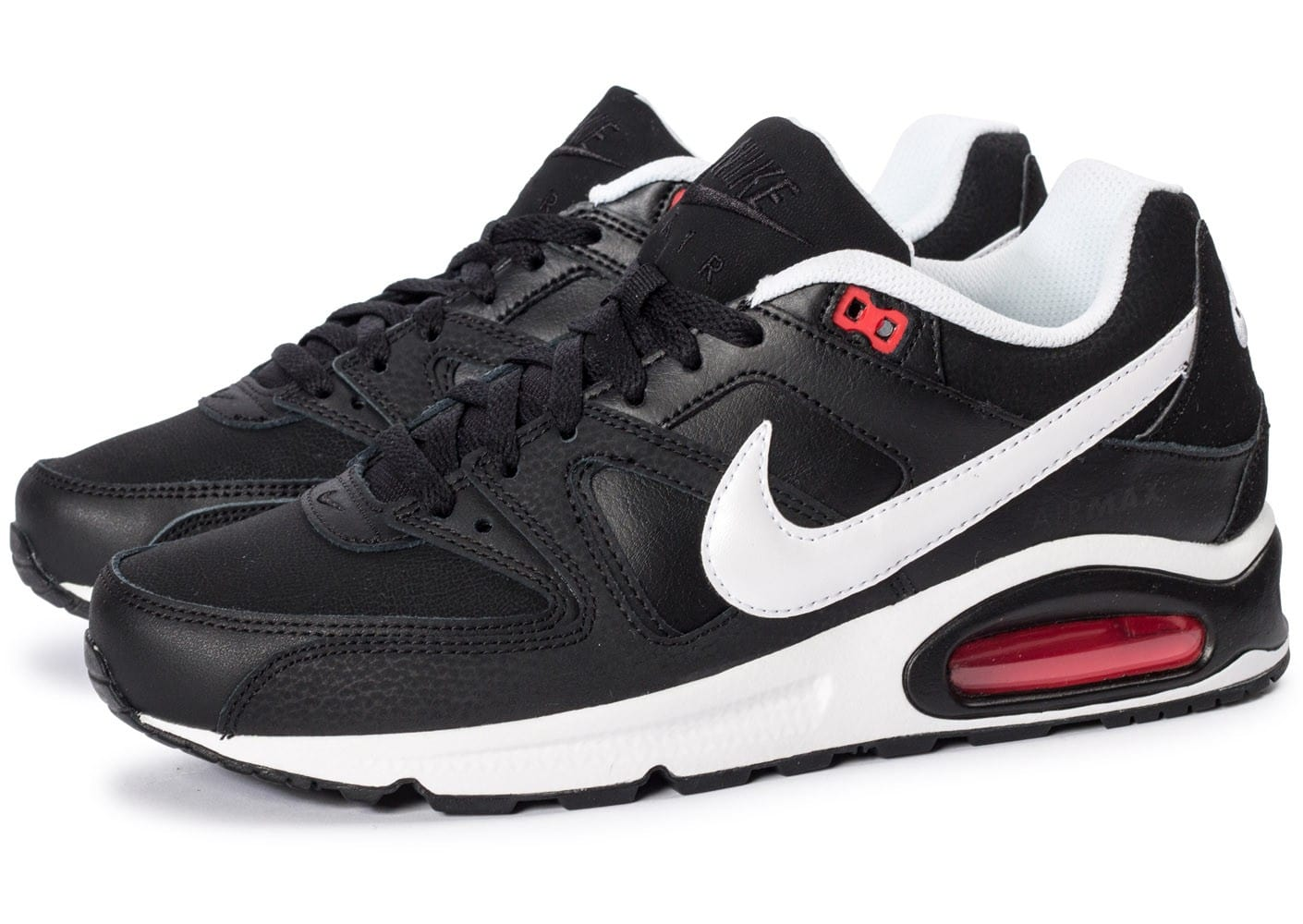 nike air max command noire et blanche chaussures homme chausport. Black Bedroom Furniture Sets. Home Design Ideas