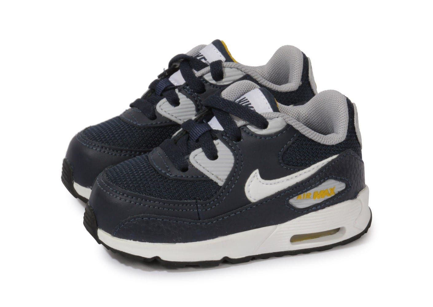 new product 4db0b dcd7f chaussures nike air max 90 grise vue par paire