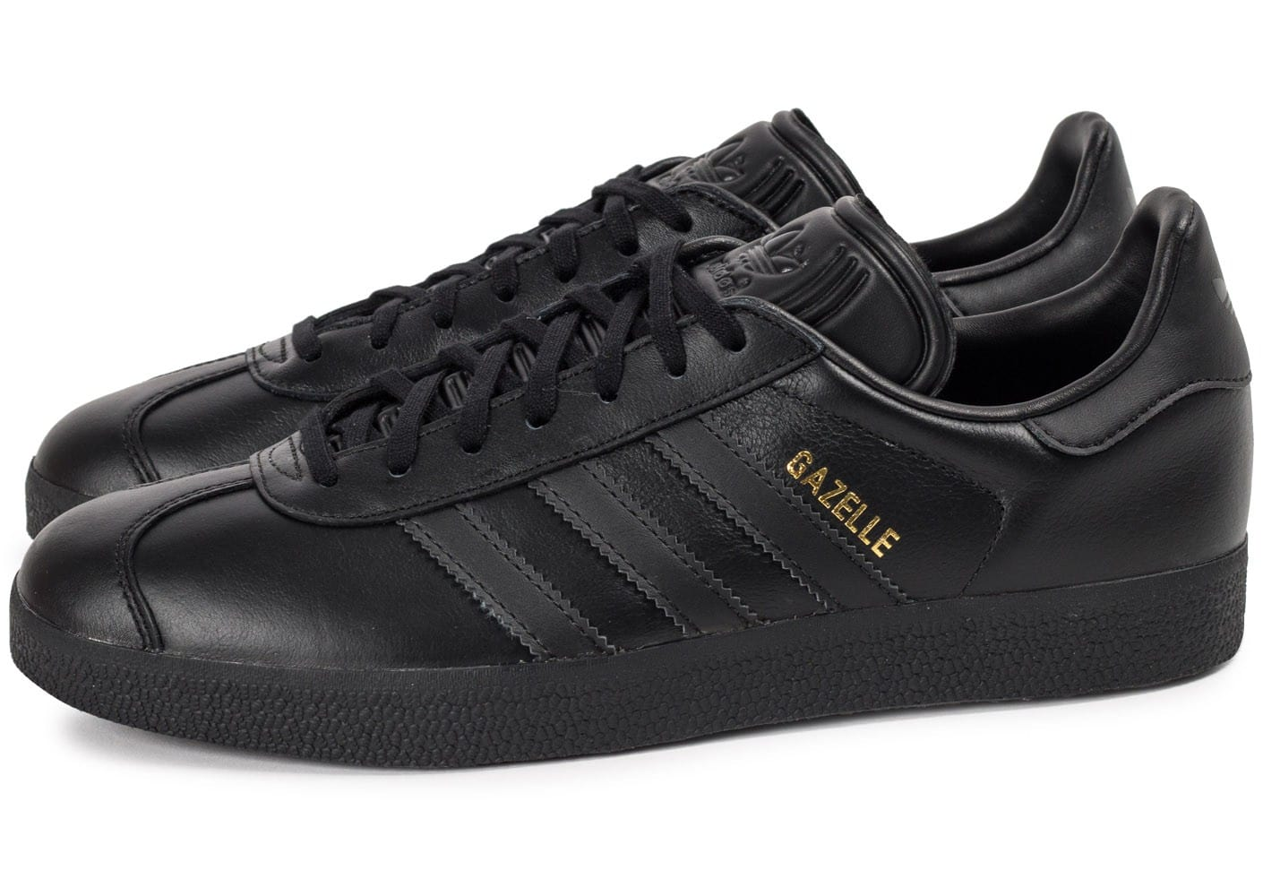adidas gazelle cuir noire chaussures homme chausport. Black Bedroom Furniture Sets. Home Design Ideas