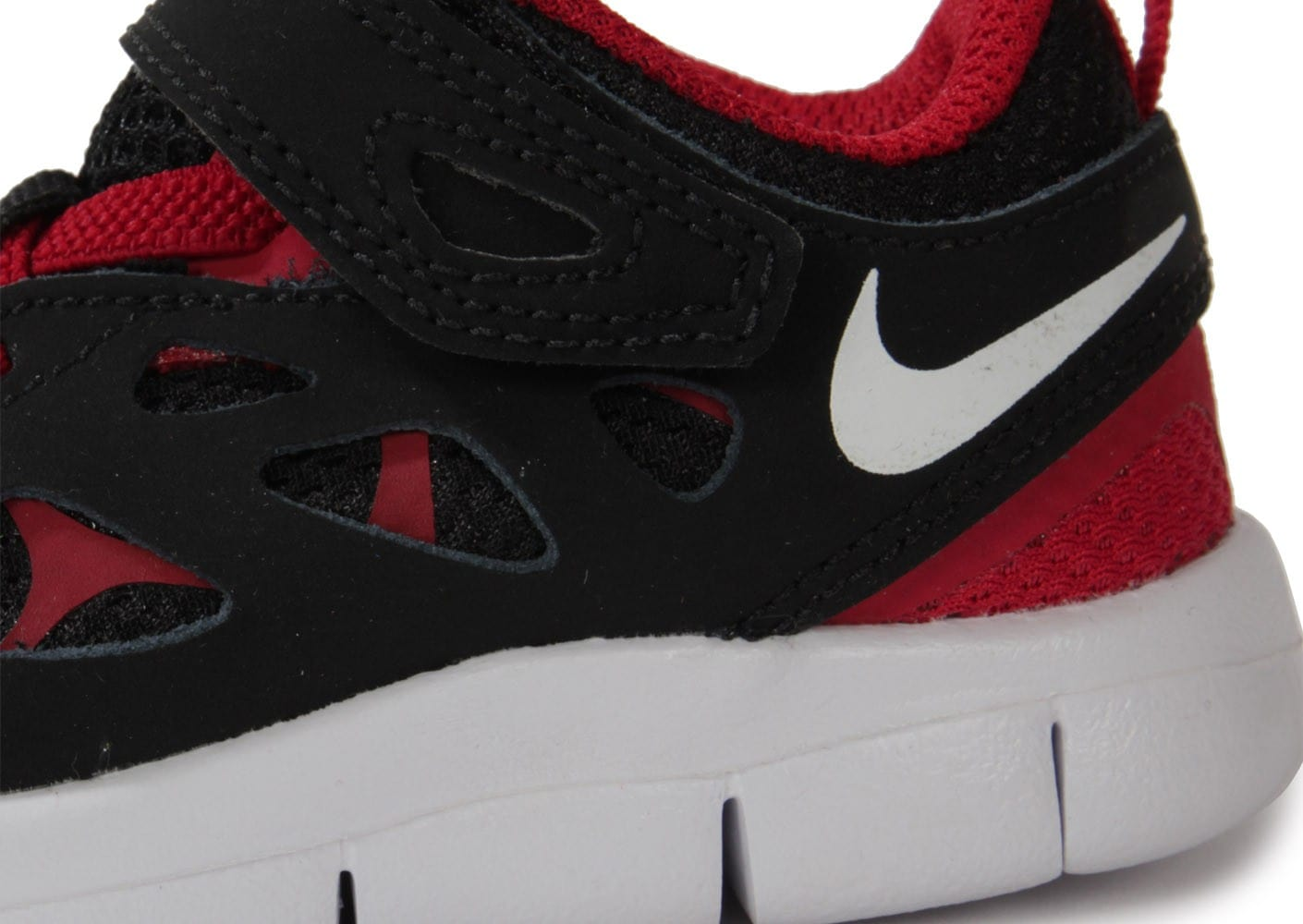 check out ab441 0b74d ... chaussures nike free run 2 bebe noir rouge zoom detail
