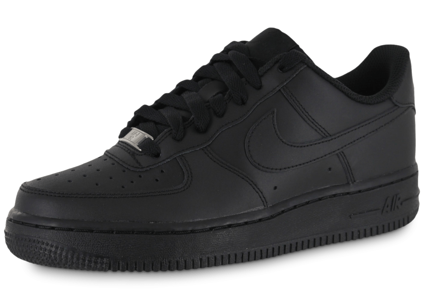 2ce444be21a 7254 chaussures nike air force 1 low junior noire vue exterieure. air force  one nike basse