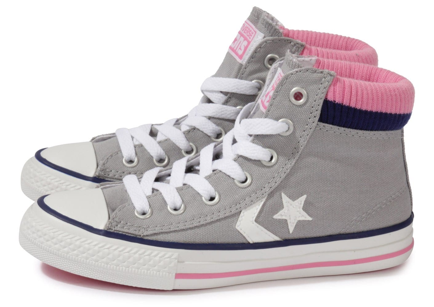 converse star player sock enfant grise chaussures chaussures chausport. Black Bedroom Furniture Sets. Home Design Ideas