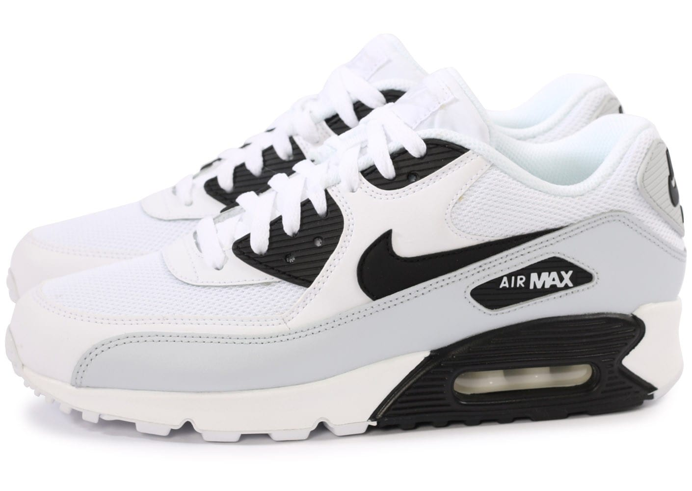 nike air max 90 essential blanc et noir chaussures homme chausport. Black Bedroom Furniture Sets. Home Design Ideas
