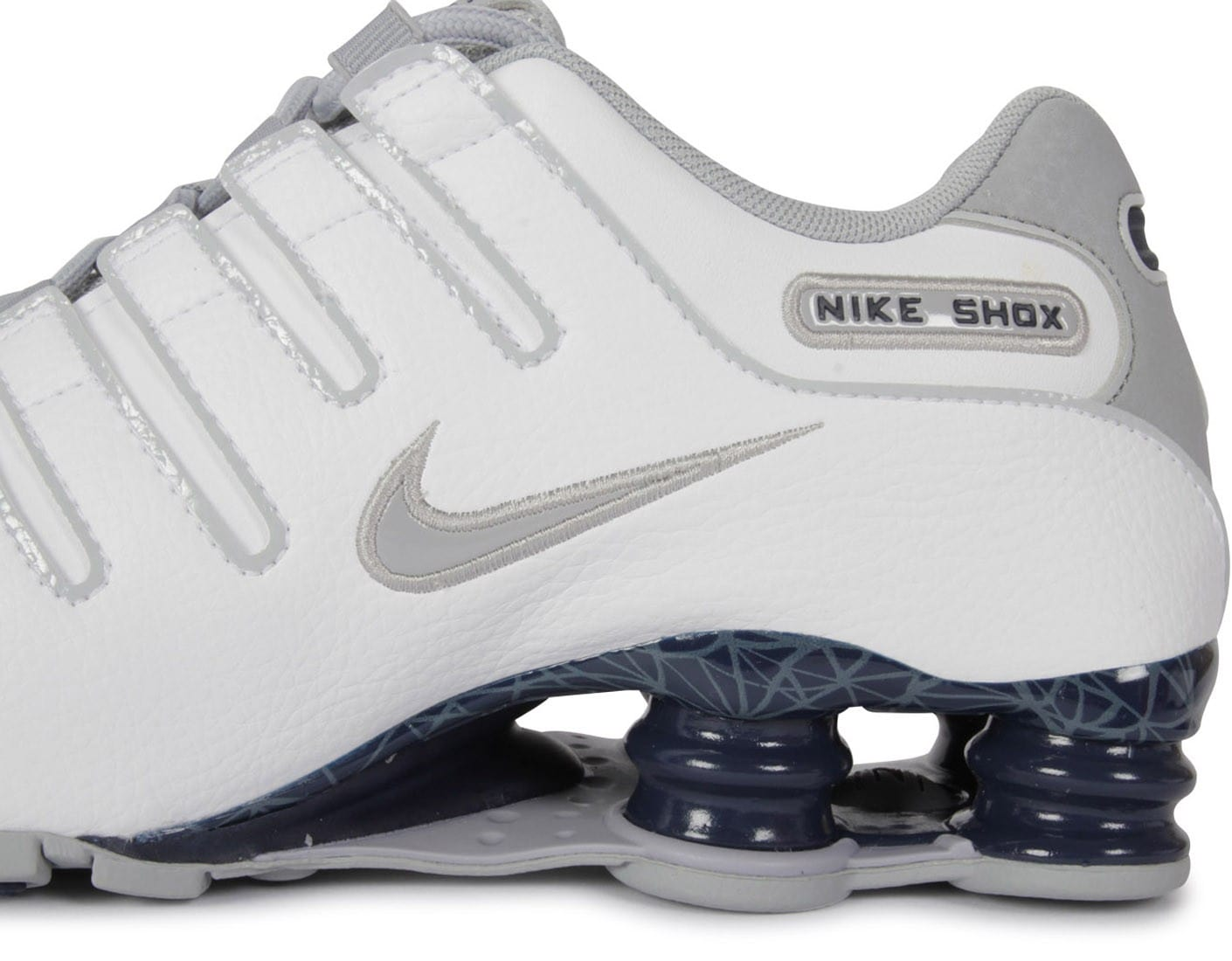 newest a3fc3 60be9 ... chaussures nike shox nz blanche zoom detail