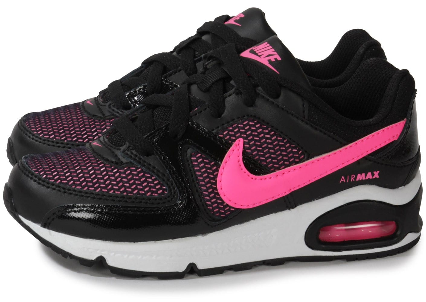 nike air max command enfant noire et rose chaussures chaussures chausport. Black Bedroom Furniture Sets. Home Design Ideas