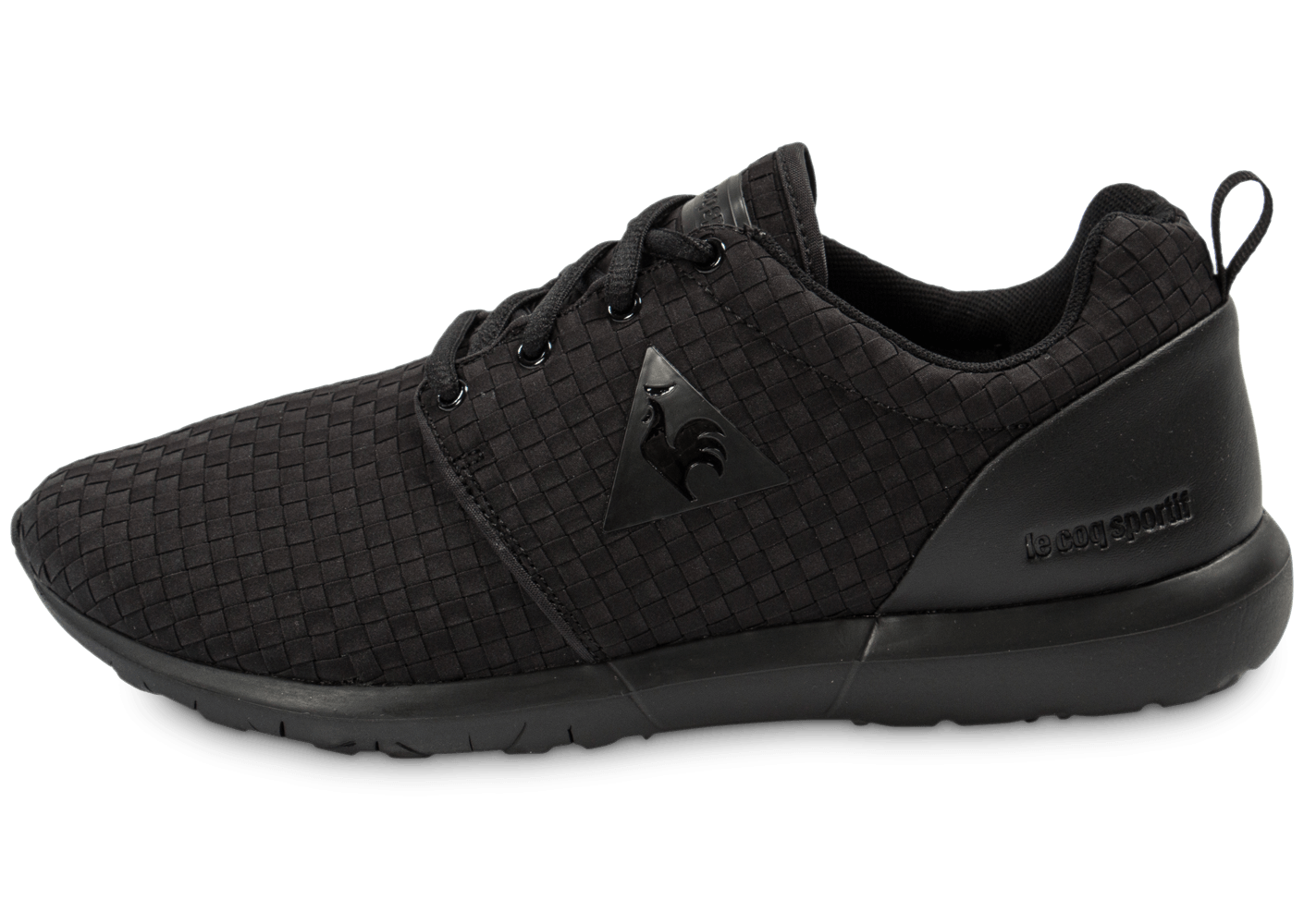 le coq sportif dynacomf woven noire chaussures homme chausport. Black Bedroom Furniture Sets. Home Design Ideas
