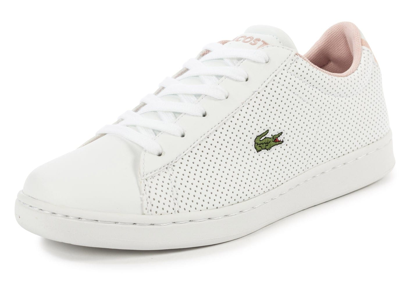 lacoste carnaby evo junior blanche et rose chaussures chaussures chausport. Black Bedroom Furniture Sets. Home Design Ideas