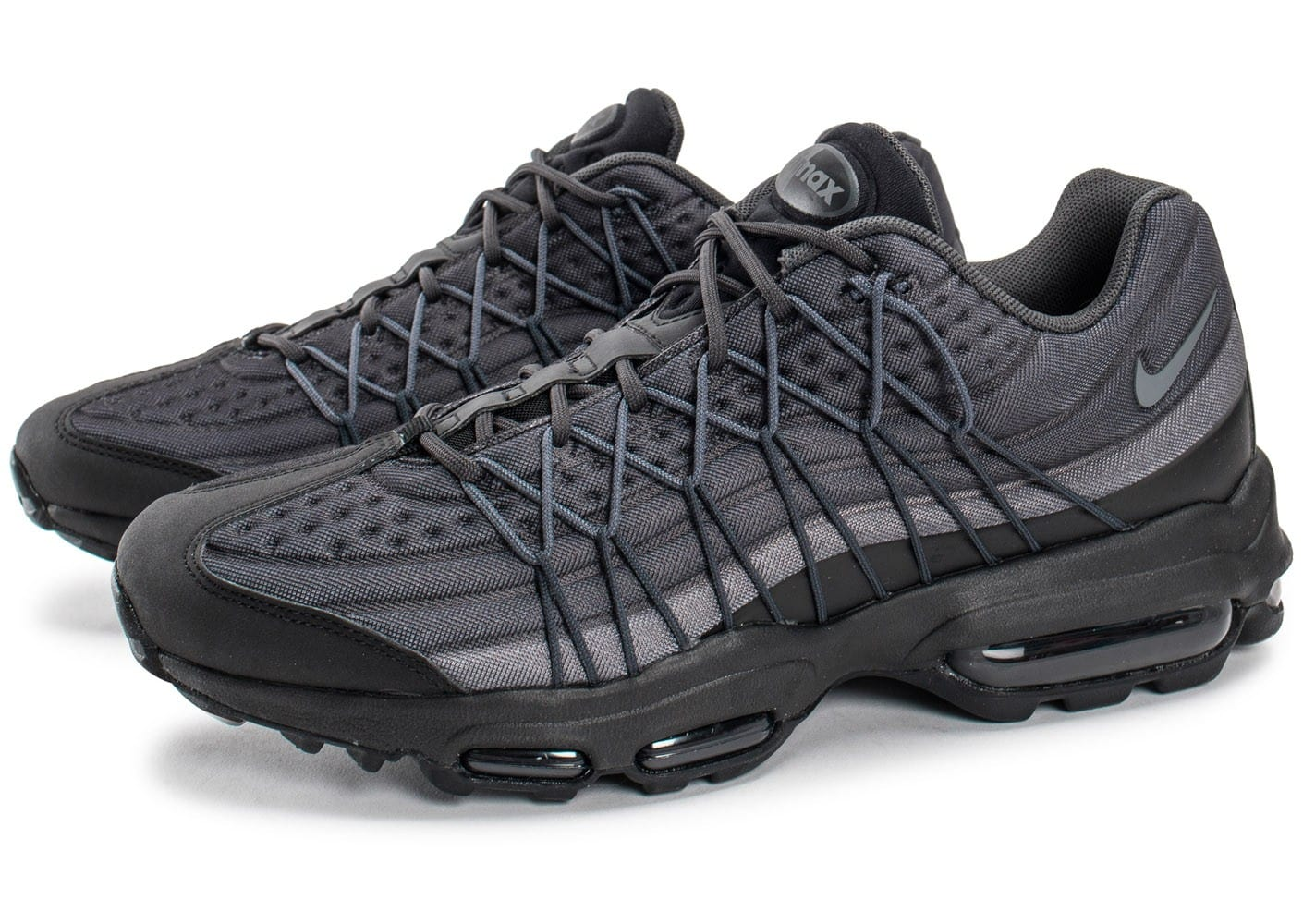 nike air max 95 ultra se noire et grise chaussures homme chausport. Black Bedroom Furniture Sets. Home Design Ideas