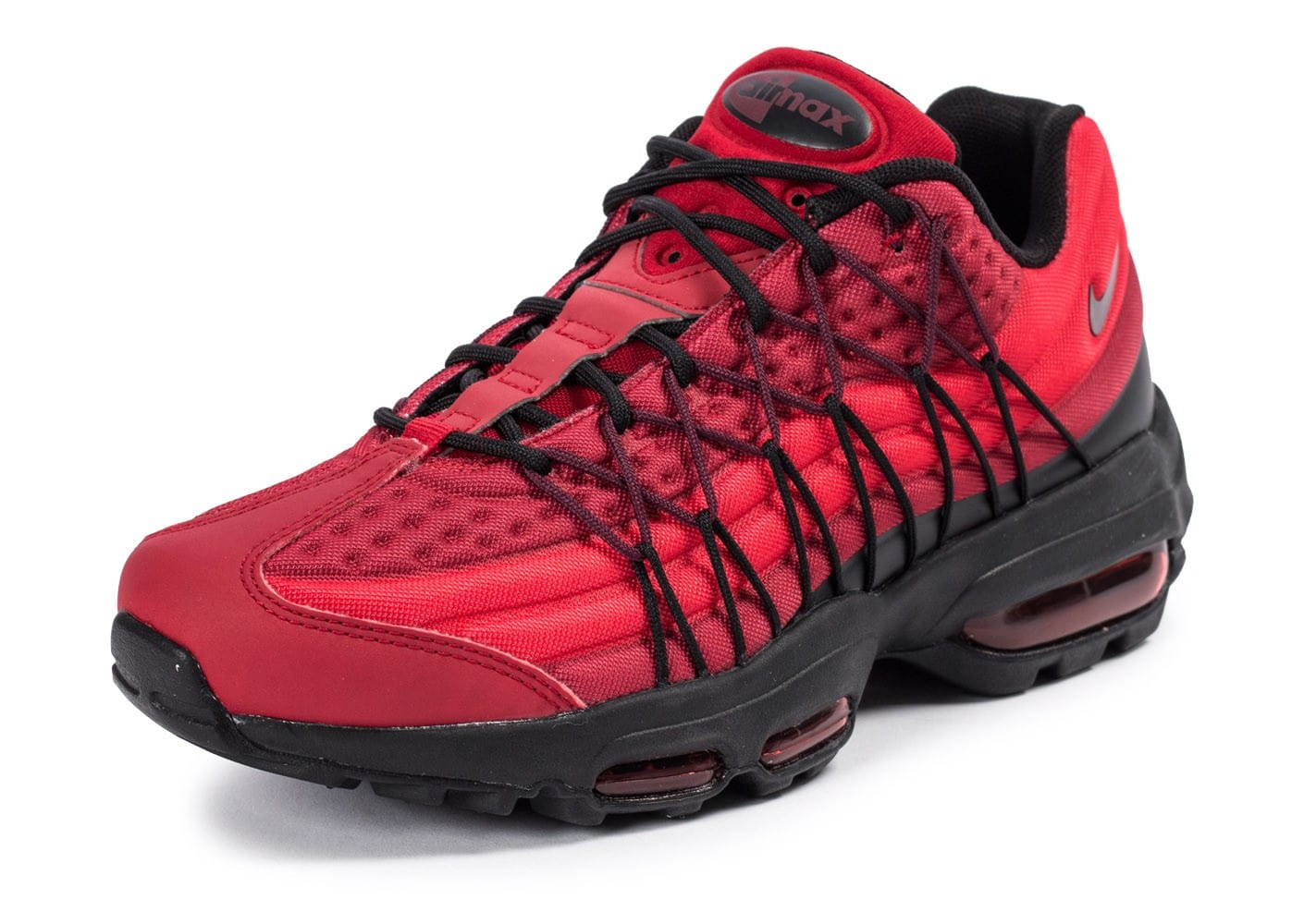 Chaussures Nike Air Max 95 Ultra SE rouge vue avant
