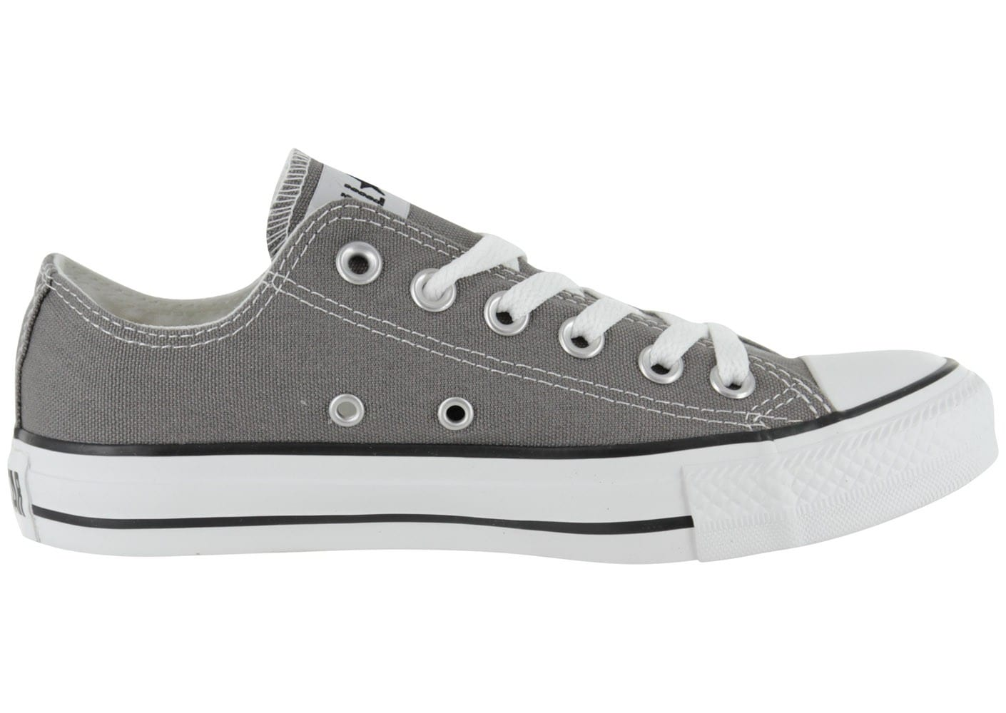 converse chuck taylor all star basse grise chaussures femme chausport. Black Bedroom Furniture Sets. Home Design Ideas