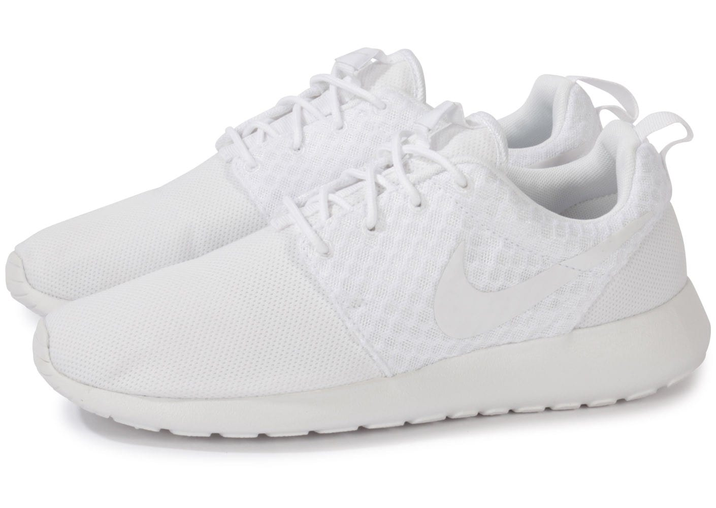 nike roshe run blanche chaussures homme chausport. Black Bedroom Furniture Sets. Home Design Ideas