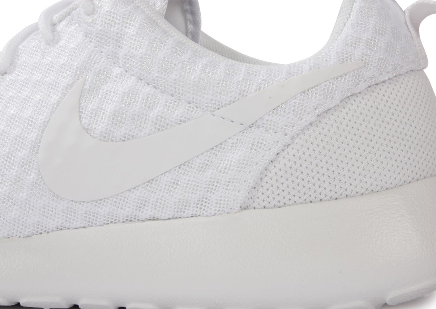 Chaussures Nike ROSHE RUN BLANCHE vue dessus