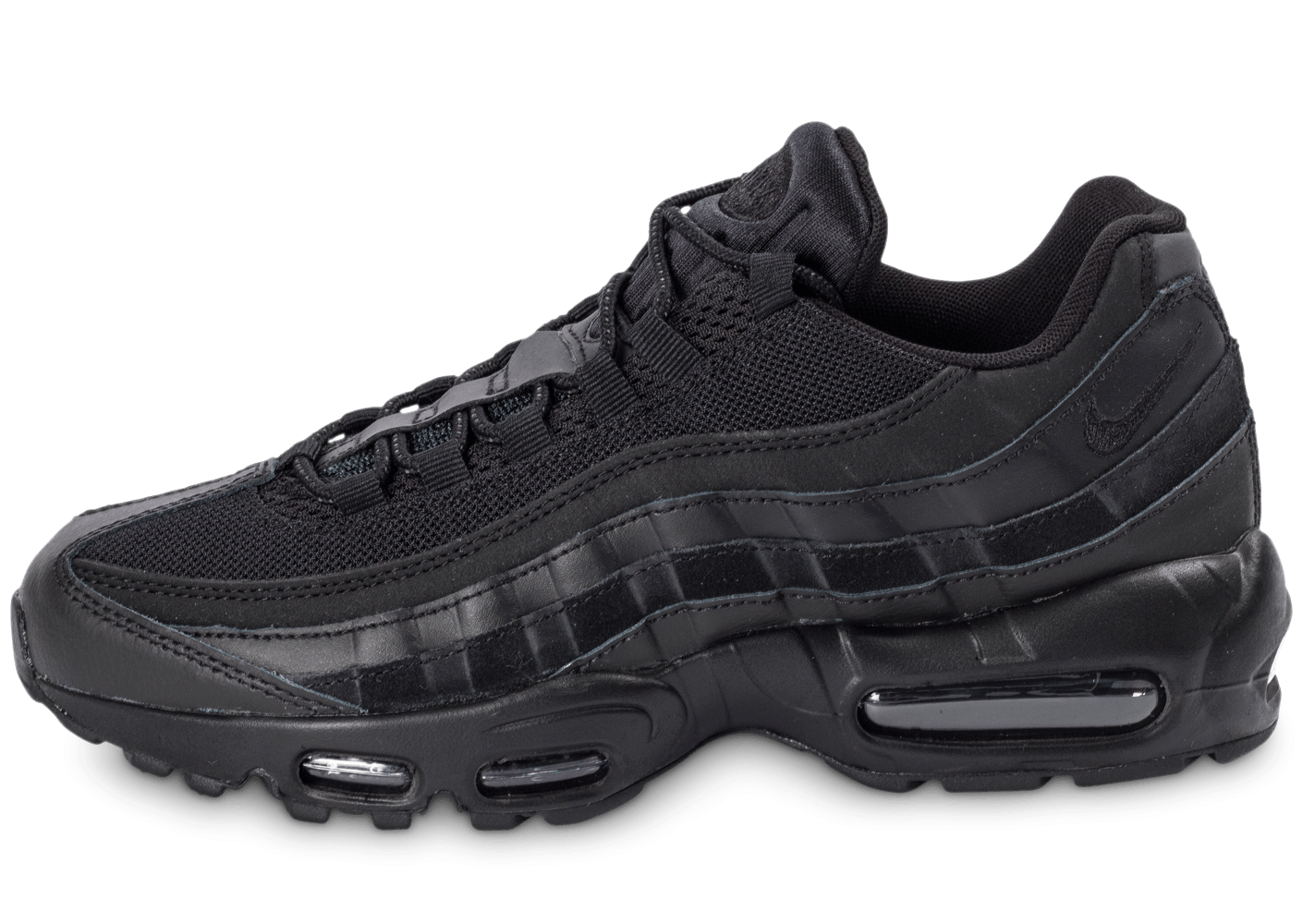 nike air max 95 essential triple noir chaussures homme chausport. Black Bedroom Furniture Sets. Home Design Ideas