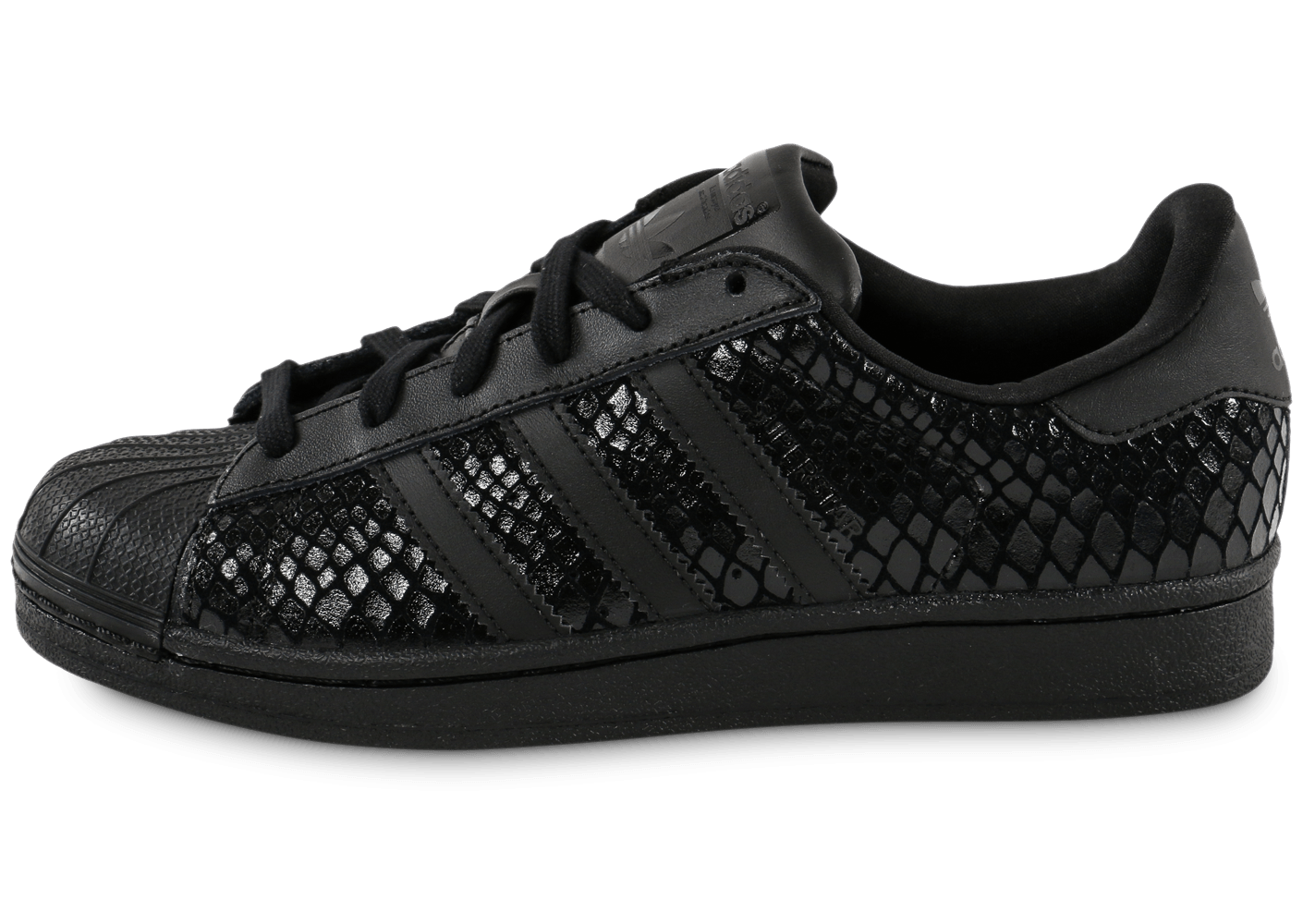 adidas superstar snake triple noire chaussures adidas chausport. Black Bedroom Furniture Sets. Home Design Ideas