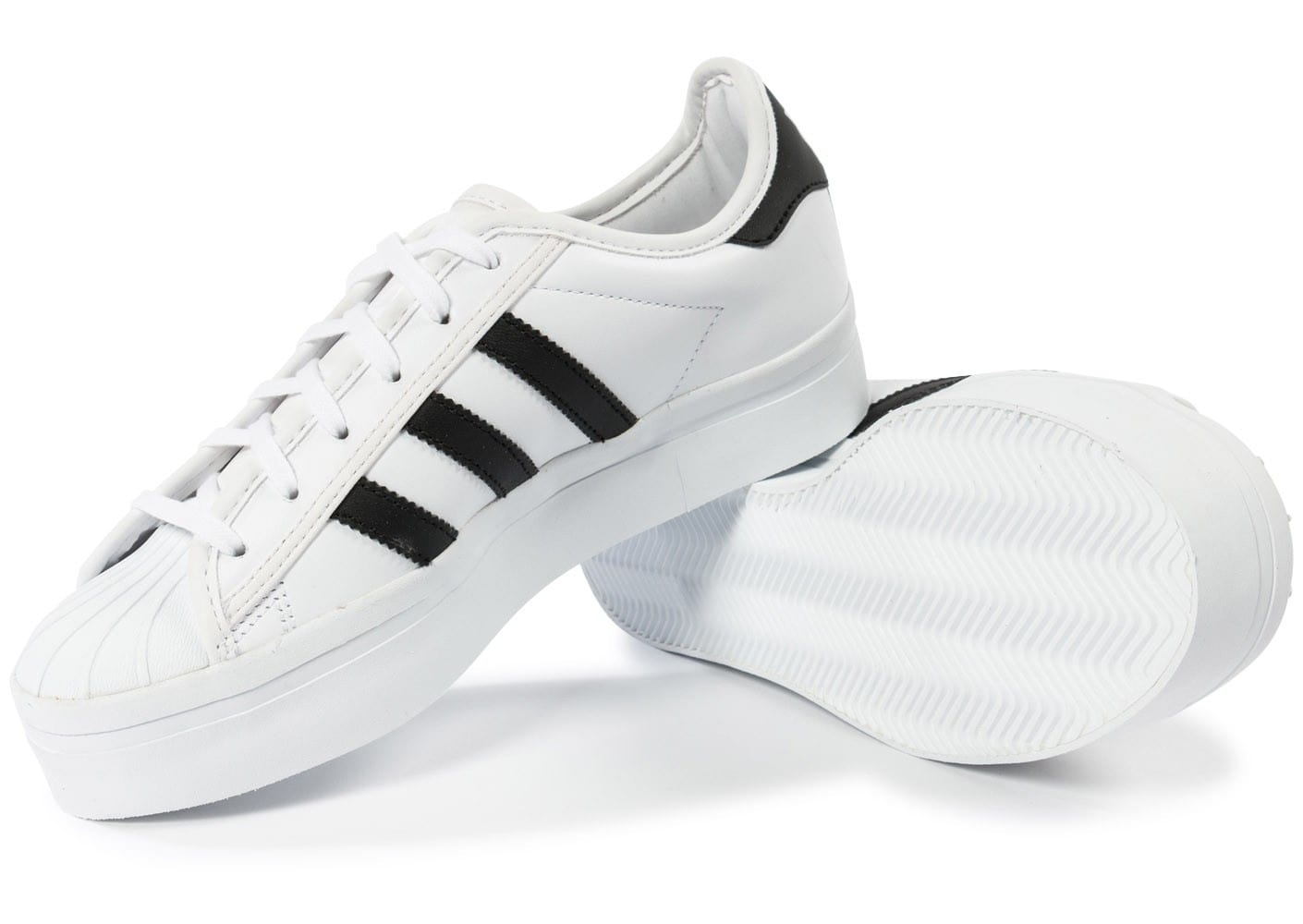adidas superstar rize plateforme blanche chaussures adidas chausport. Black Bedroom Furniture Sets. Home Design Ideas