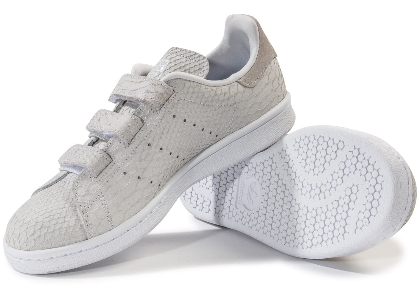 adidas stan smith cf velcro grise chaussures adidas chausport. Black Bedroom Furniture Sets. Home Design Ideas