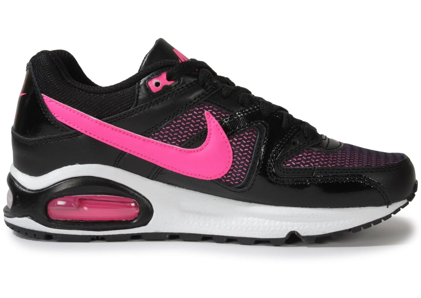 nike air max command junior noir et rose chaussures chaussures chausport. Black Bedroom Furniture Sets. Home Design Ideas