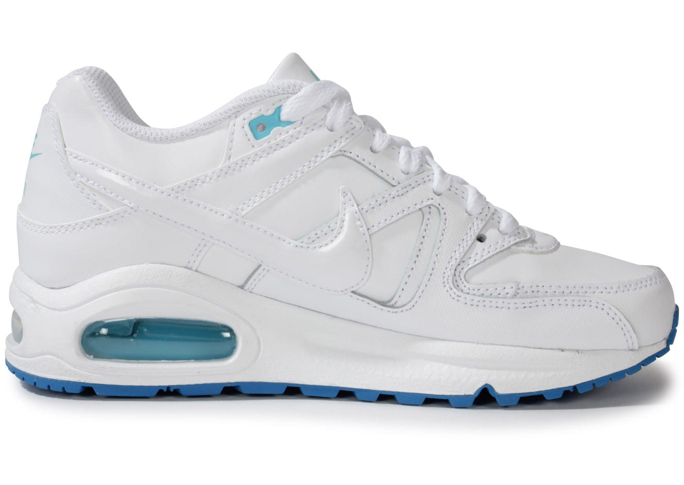 Chaussures Nike AIR MAX COMMAND JUNIOR BLANCHE TURQUOISE vue dessous