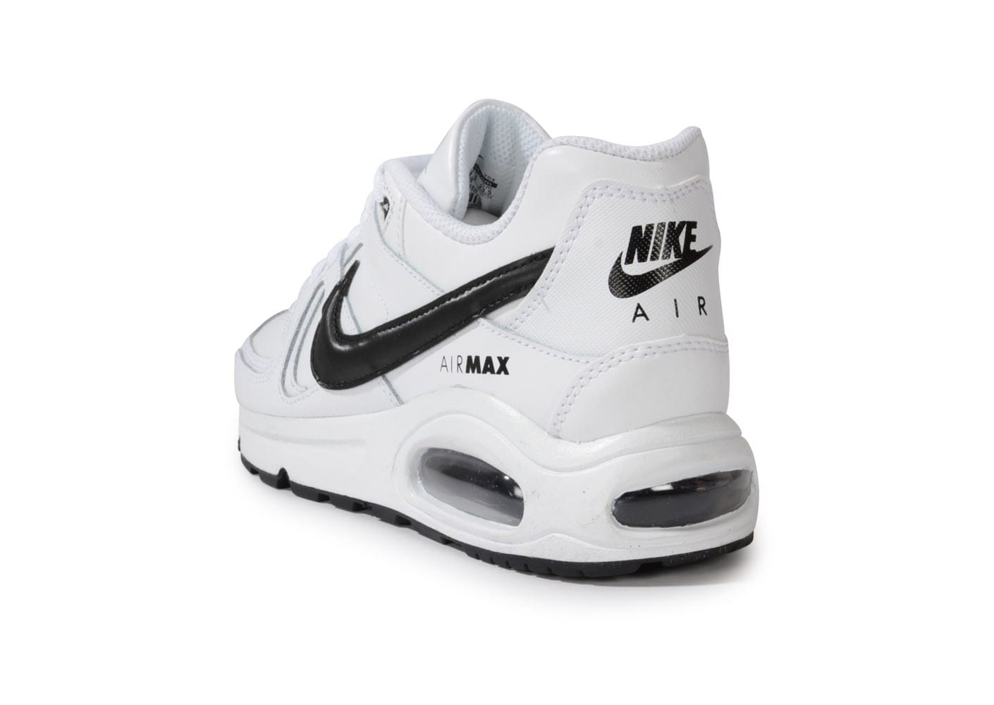nike air max command gs blanc et noir chaussures chaussures chausport. Black Bedroom Furniture Sets. Home Design Ideas