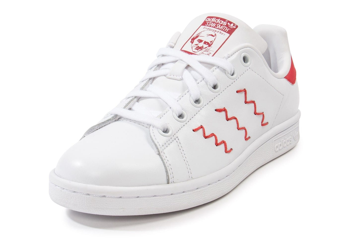 adidas stan smith zig zag rouge