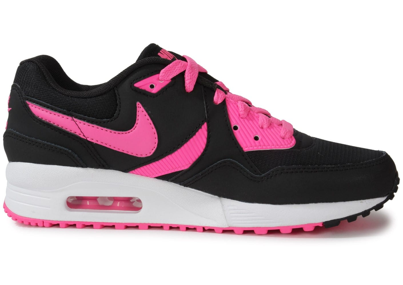 nike air max light junior noire rose chaussures chaussures chausport. Black Bedroom Furniture Sets. Home Design Ideas