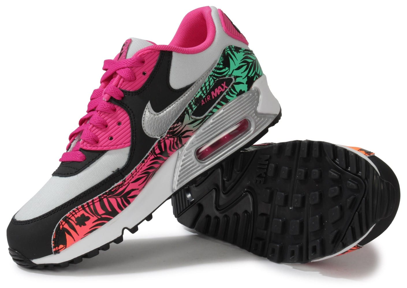 cheap for discount ebb2d 2af56 ... chaussures nike air max 90 junior print vue dessous semelle