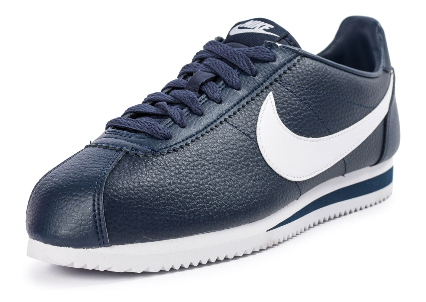 nike cortez leather bleu marine chaussures homme chausport. Black Bedroom Furniture Sets. Home Design Ideas