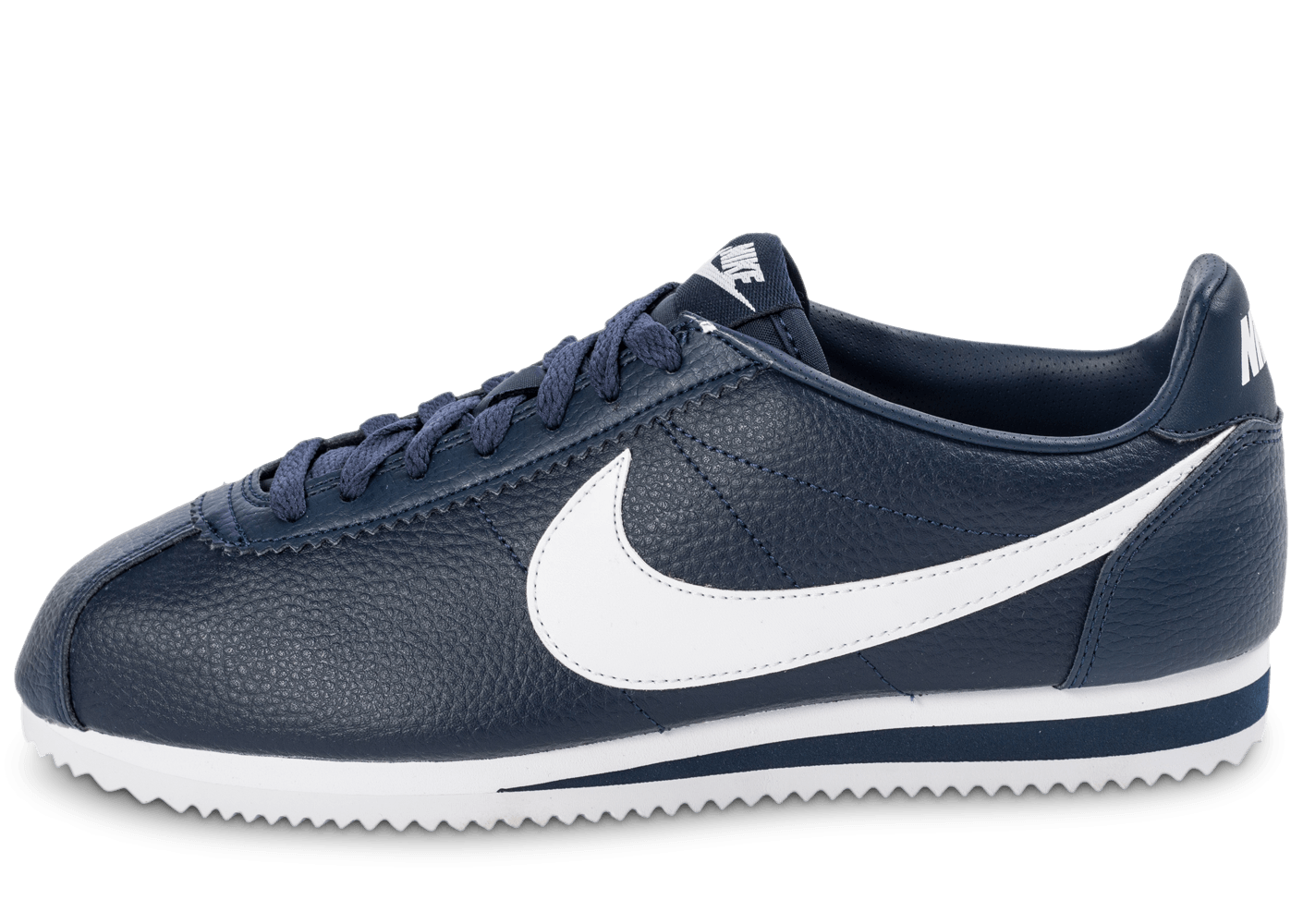 nike cortez leather bleu marine chaussures baskets homme chausport. Black Bedroom Furniture Sets. Home Design Ideas