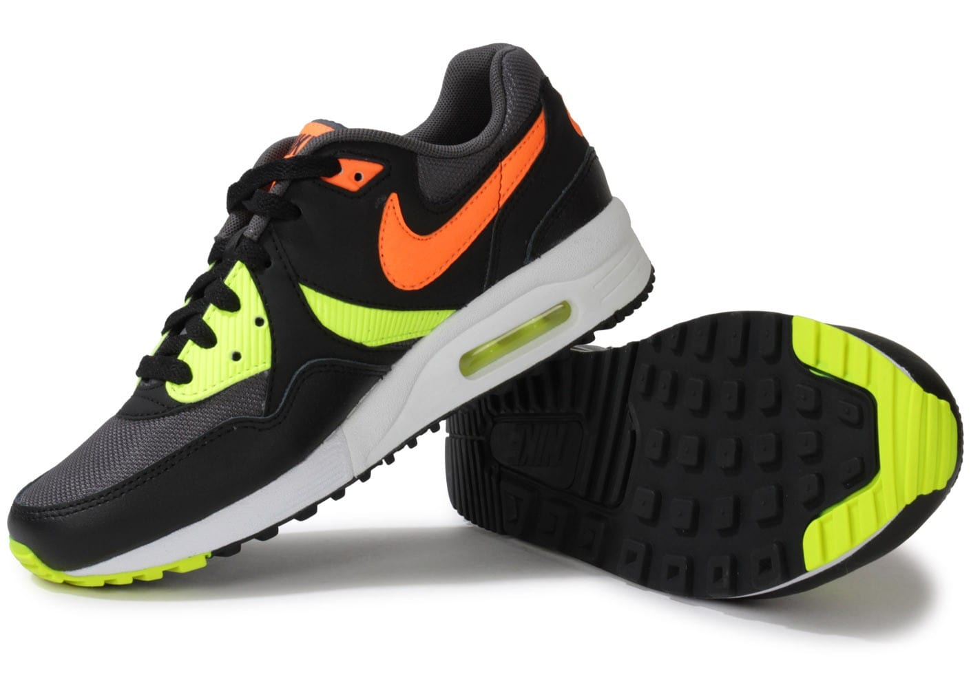 nike air max light junior grise orange chaussures chaussures chausport. Black Bedroom Furniture Sets. Home Design Ideas