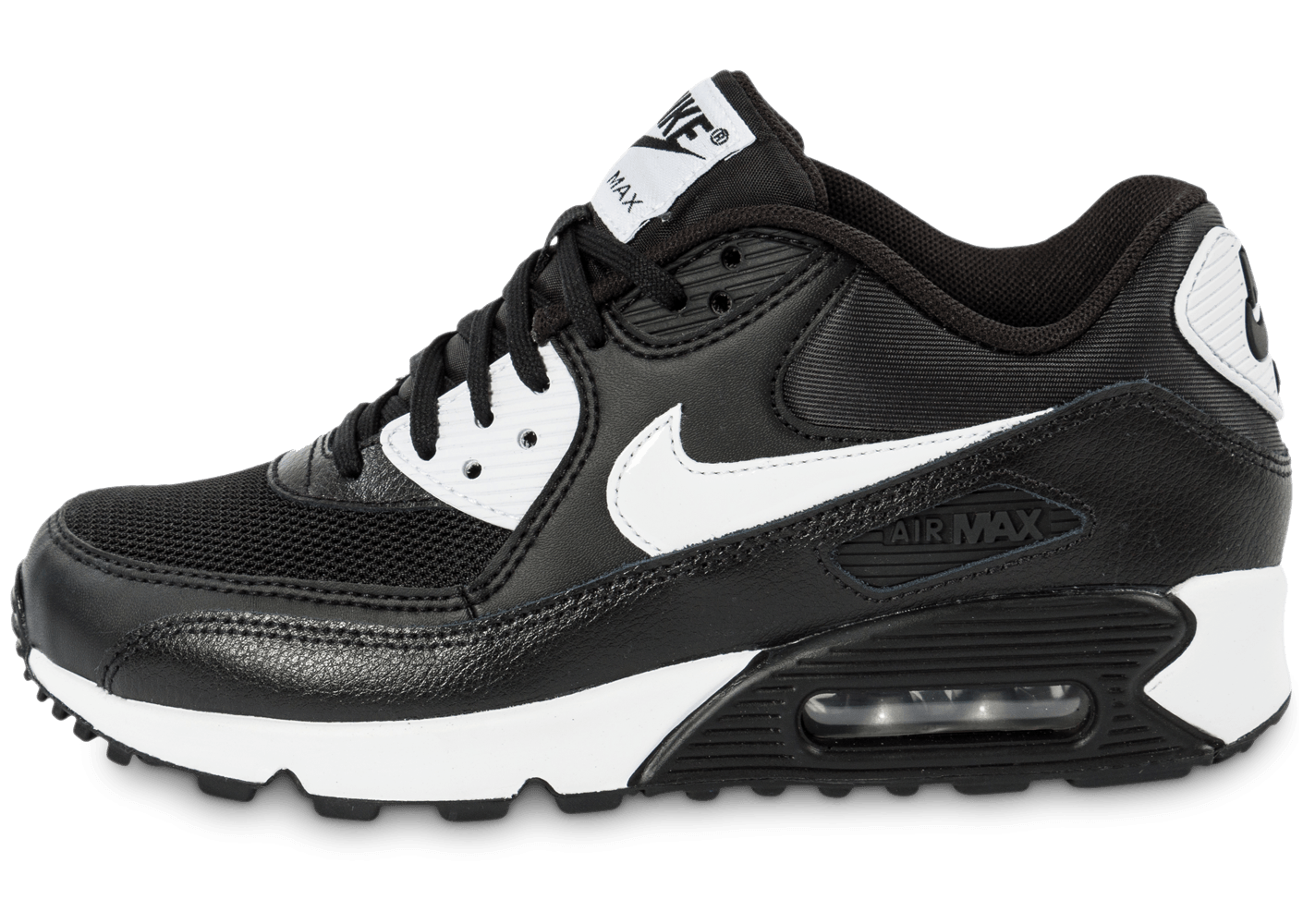 nike air max 90 essential noire et blanche chaussures chaussures chausport. Black Bedroom Furniture Sets. Home Design Ideas
